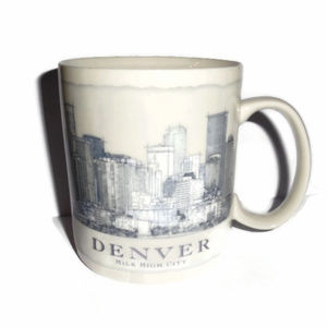 Starbucks City Mug Coffee Denver 2008 18 oz